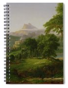 The Course Of Empire   The Arcadian Or Pastoral State Spiral Notebook