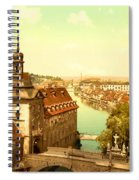 The Court House-bamberg-bavaria-germany - Between 1890 And 1900 Spiral Notebook