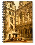 The Court House-hamburg-germany - Between 1890 And 1900 Spiral Notebook
