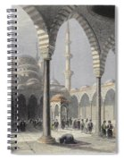 The Court Of The Mosque Of Sultan Spiral Notebook