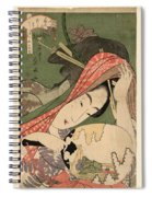 The Courtesan Tsukasa From The Ogiya House Tanabata. Star Festival  Spiral Notebook