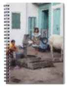 The Cow In The Yard Spiral Notebook
