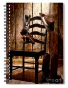The Cowboy Chair Spiral Notebook