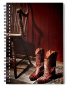 The Cowgirl Boots And The Old Chair Spiral Notebook