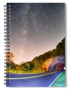 The Craggy Pinnacle Tunnel On The Blue Ridge Parkway  Spiral Notebook