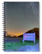 The Craggy Pinnacle Visitors Center At Night Spiral Notebook