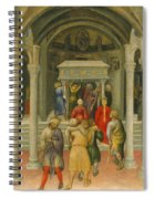 The Crippled And Sick Cured At The Tomb Of Saint Nicholas Spiral Notebook