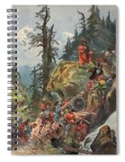 The Crossing Of The Alps, Illustration Spiral Notebook