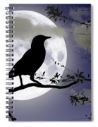 The Crow And Moon Spiral Notebook
