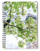 The Crow And The Eiffel Tower Spiral Notebook