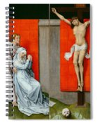 The Crucifixion With The Virgin And Saint John The Evangelist Mourning Spiral Notebook