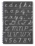 The Cursive Alphabet Spiral Notebook