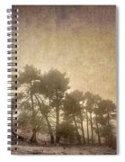 The Curved Tree Spiral Notebook