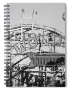 The Cyclone In Black And White Spiral Notebook