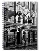 The Czech Inn - Dublin Ireland In Black And White Spiral Notebook