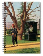 The Daughter Of The English Ambassador Riding In A Palanquin Spiral Notebook