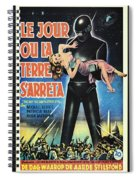 The Day The Earth Stood Still Vintage Poster Spiral Notebook