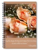 The Days Of Wine And Roses Spiral Notebook