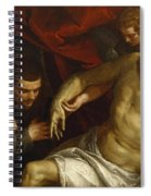 The Dead Christ Supported By An Angel And Adored By A Franciscan Spiral Notebook