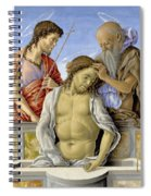 The Dead Christ Supported By Saints Spiral Notebook