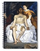 The Dead Christ With Angels Spiral Notebook