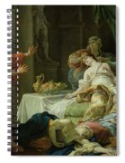 The Death Of Cleopatra, 1755 Oil On Canvas Spiral Notebook