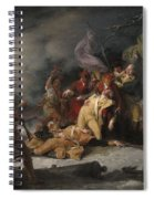 The Death Of General Montgomery In The Attack On Quebec, December 31, 1775, 1786 Oil On Canvas Spiral Notebook