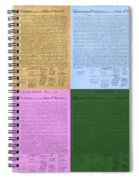 The Declaration Of Independence In Colors Spiral Notebook
