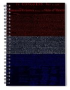 The Declaration Of Independence In Negative R W B 1 Spiral Notebook
