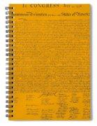 The Declaration Of Independence In Orange Spiral Notebook