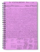 The Declaration Of Independence In Pink Spiral Notebook