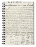 The Declaration Of Independence In Red White And Blue Spiral Notebook