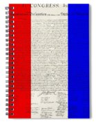 The Declaration Of Independence In Red White Blue Spiral Notebook