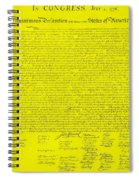 The Declaration Of Independence In Yellow Spiral Notebook