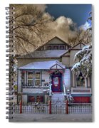The Decorated Little House In The Snow Spiral Notebook
