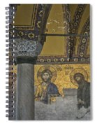 The Deesis Mosaic At Hagia Sophia Spiral Notebook