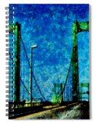 The Delaware Memorial Bridge Spiral Notebook