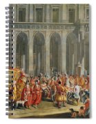 The Departure Of Alois Thomas Von Harrach, Viceroy Of Naples 1669-1742 From The Palazzo Reale Di Spiral Notebook
