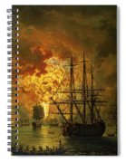 The Destruction Of The Turkish Fleet At The Bay Of Chesma Spiral Notebook