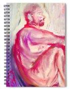 The Devil Meditates Spiral Notebook