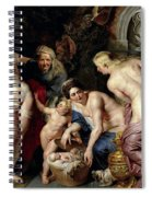 The Discovery Of The Child Erichthonius Spiral Notebook