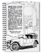 The Distinguished Car Of  1916 Spiral Notebook