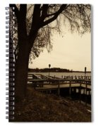 The Docks On Lake Minnetonka Spiral Notebook