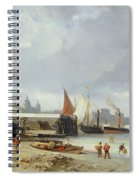 The Docks On The Bank At Greenwich  Spiral Notebook