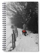 The Dog In The Red Coat Spiral Notebook