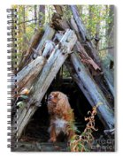 The Dog In The Teepee Spiral Notebook