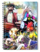 The Dogs Parade In New Orleans Spiral Notebook