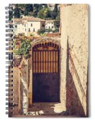 The Door With Overview Of Ronda Spiral Notebook