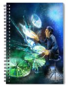 The Drummer 01 Spiral Notebook