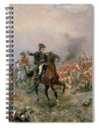 The Duke Of Wellington At Waterloo Spiral Notebook